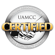 The United Association of Mobile Contract Cleaners certification award